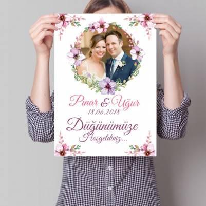 Kişiye Özel Düğün Davetiyesi Posteri