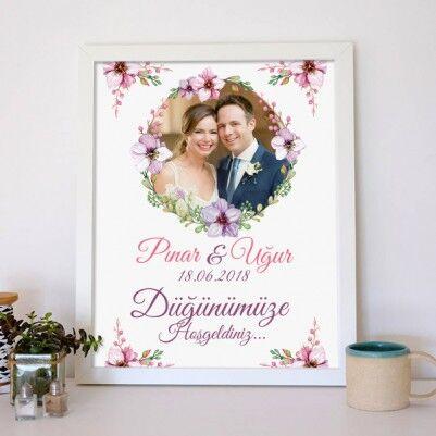 Kişiye Özel Düğün Davetiyesi Posteri - Thumbnail