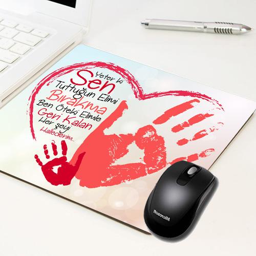 Kişiye Özel Ellerimi Bırakma Mousepad