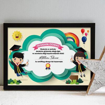 - Kişiye Özel En Başarılı Öğrenci Sertifika