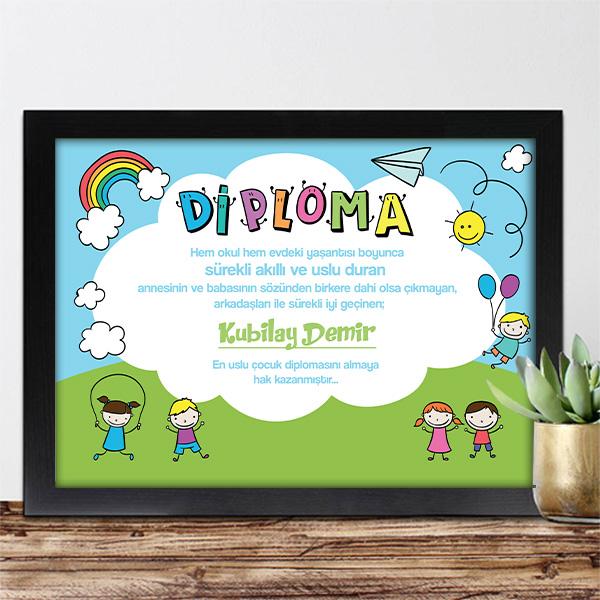 Kişiye Özel En Uslu Çocuk Diploması
