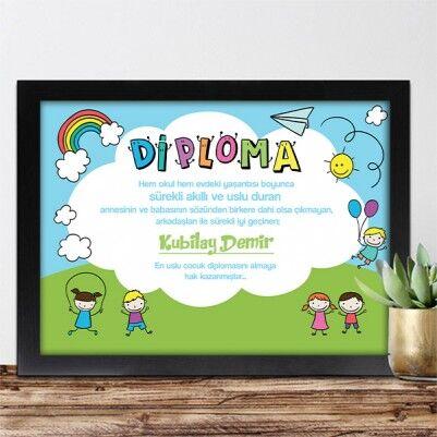 - Kişiye Özel En Uslu Çocuk Diploması