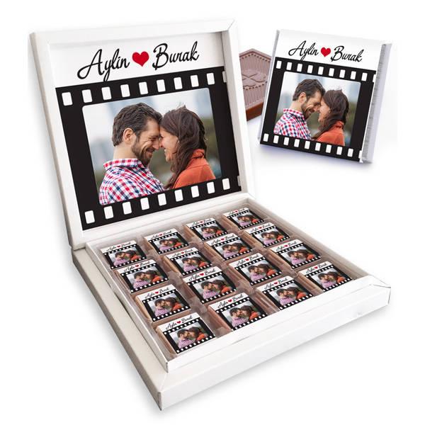Kişiye Özel Film Gibi Aşkımız Çikolatası