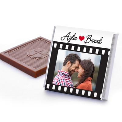 Kişiye Özel Film Gibi Aşkımız Çikolatası - Thumbnail