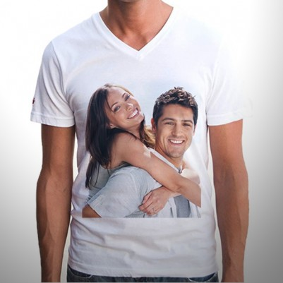 Kişiye Özel Fotoğraf Baskılı Tişört Erkek Modeli - Thumbnail