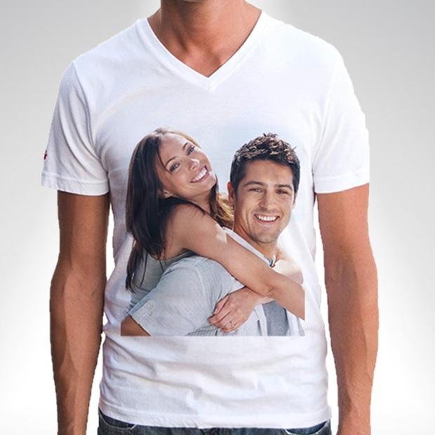Kişiye Özel Fotoğraf Baskılı Tişört Erkek Modeli