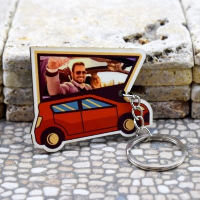 - Kişiye Özel Fotoğraflı Araba Anahtarlığı