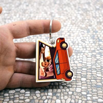Kişiye Özel Fotoğraflı Araba Anahtarlığı - Thumbnail