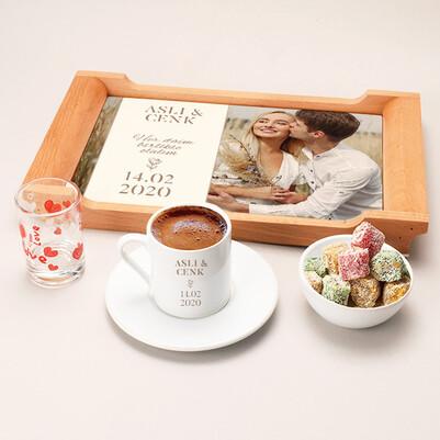 - Kişiye Özel Fotoğraflı Damat Kahvesi Seti