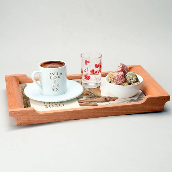 Kişiye Özel Fotoğraflı Damat Kahvesi Seti