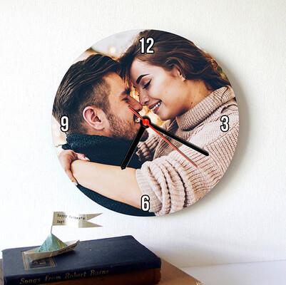 - Kişiye Özel Fotoğraflı Duvar Saati
