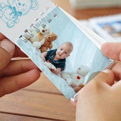 - Kişiye Özel Fotoğraflı Erkek Bebek Albümü