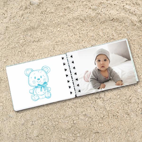 Kişiye Özel Fotoğraflı Erkek Bebek Albümü
