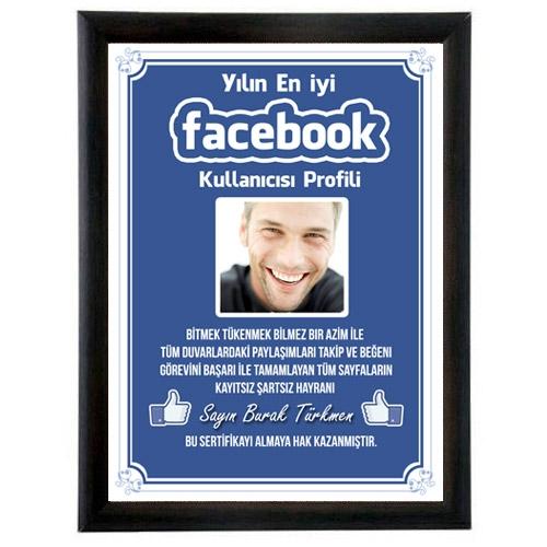 Kişiye Özel Fotoğraflı Facebook Sertifikası