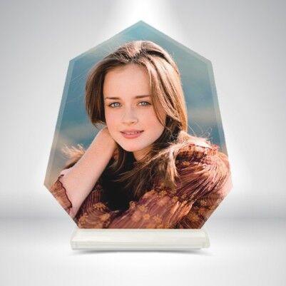 - Kişiye Özel Fotoğraflı Kristal Cam