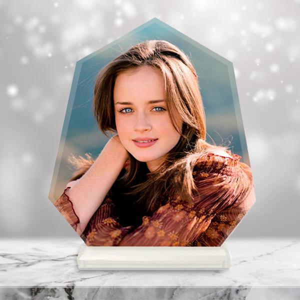 Kişiye Özel Fotoğraflı Kristal Cam