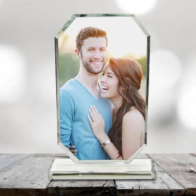 Kişiye Özel Fotoğraflı Kristal Cam Ödül