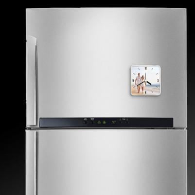 Kişiye Özel Fotoğraflı Saatli Buzdolabı Magneti - Thumbnail