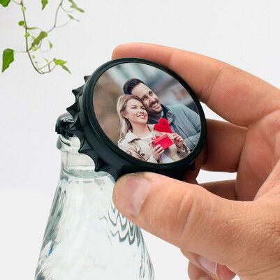 Kişiye Özel Fotoğraflı Şişe Açacağı - Thumbnail