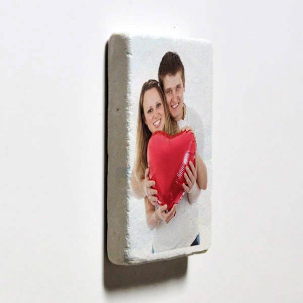 Kişiye Özel Fotoğraflı Taş Buzdolabı Magneti