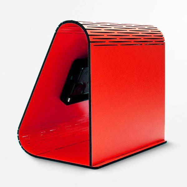 Kişiye Özel Geometrik Masa Saati Kırmızı