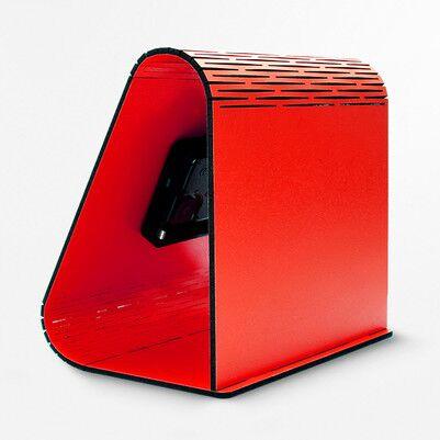 Kişiye Özel Geometrik Masa Saati Kırmızı - Thumbnail
