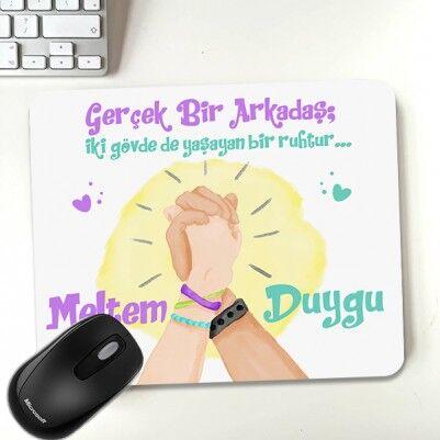 - Kişiye Özel Gerçek Arkadaşım Mousepad