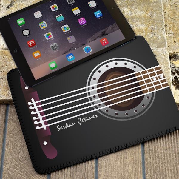 Kişiye Özel Gitar Görünümlü Tablet Kılıfı