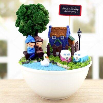 - Kişiye Özel Güzel Aşkımız Minyatür Bahçe