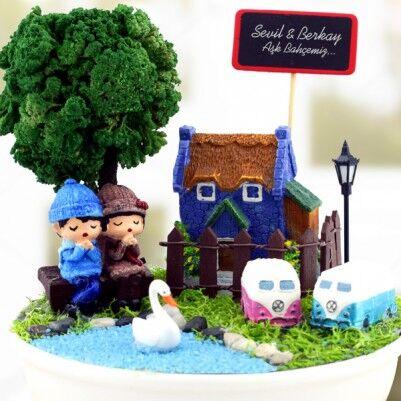 Kişiye Özel Güzel Aşkımız Minyatür Bahçe - Thumbnail