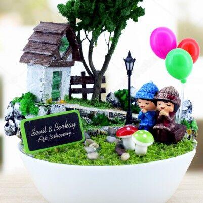 Kişiye Özel Güzel Hayallerimiz Mini Bahçe - Thumbnail