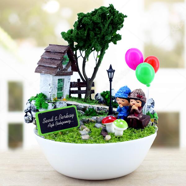 Kişiye Özel Güzel Hayallerimiz Mini Bahçe