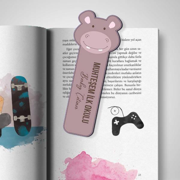 Kişiye Özel Hipopotam Kitap Ayracı