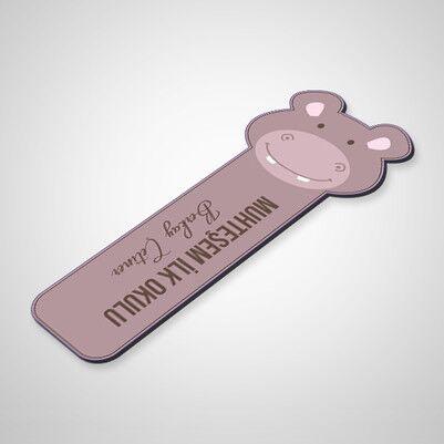 Kişiye Özel Hipopotam Kitap Ayracı - Thumbnail