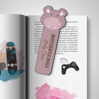 - Kişiye Özel Hipopotam Kitap Ayracı