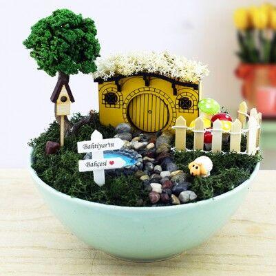 - Kişiye Özel Hobbit Evi Minyatür Bahçe
