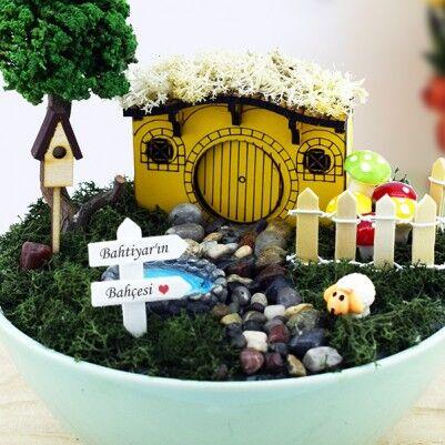 Kişiye Özel Hobbit Evi Minyatür Bahçe - Thumbnail