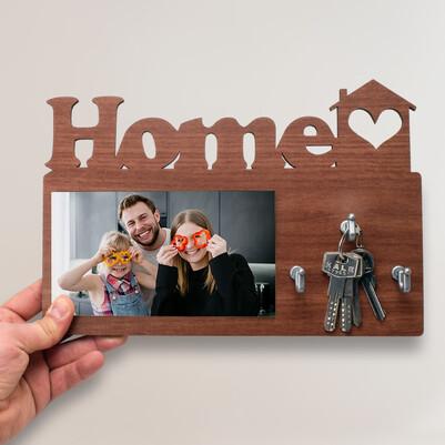- Kişiye Özel Home Fotoğraflı Anahtarlık Askısı