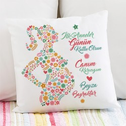 - Kişiye Özel İlk Anneler Günü Temalı Yastık
