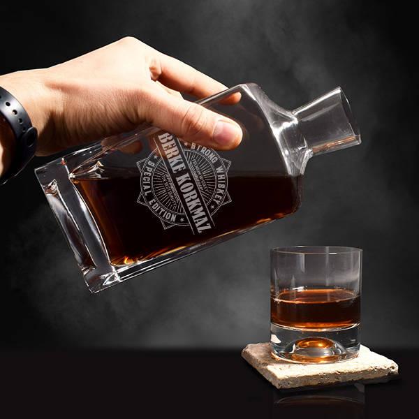 Kişiye Özel İsimli Exclusive Viski Şişesi
