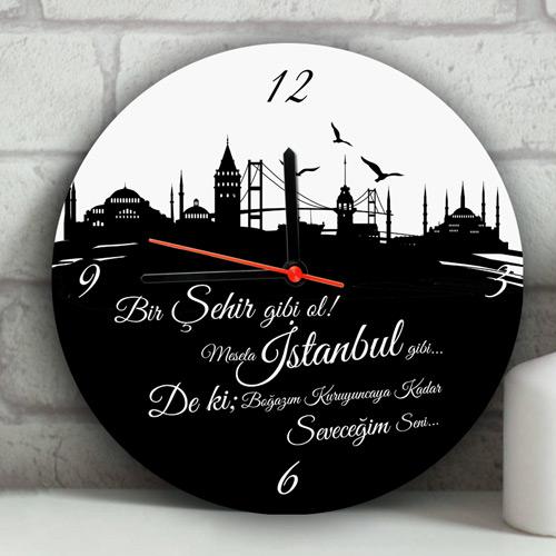 Kişiye Özel İstanbul'un İncileri Duvar Saati