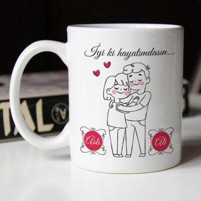 - Kişiye Özel İyi ki Hayatımdasın Kahve Kupası