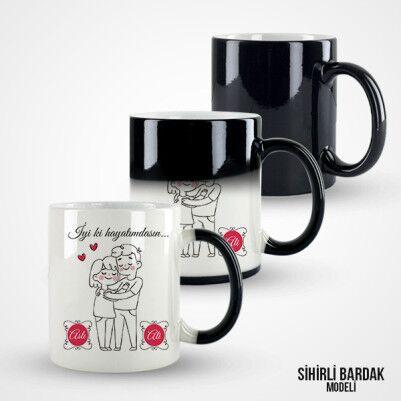 Kişiye Özel İyi ki Hayatımdasın Kahve Kupası - Thumbnail
