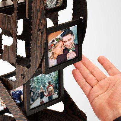 Kişiye Özel Kahverengi Dönme Dolap Fotoğraf Çerçevesi - Thumbnail