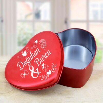 Kişiye Özel Kalp Tasarımlı Hediye Kutusu - Thumbnail