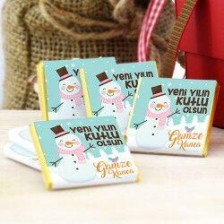 - Kişiye Özel Kardan Adam Yılbaşı Çikolatası