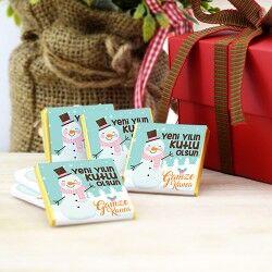 Kişiye Özel Kardan Adam Yılbaşı Çikolatası - Thumbnail