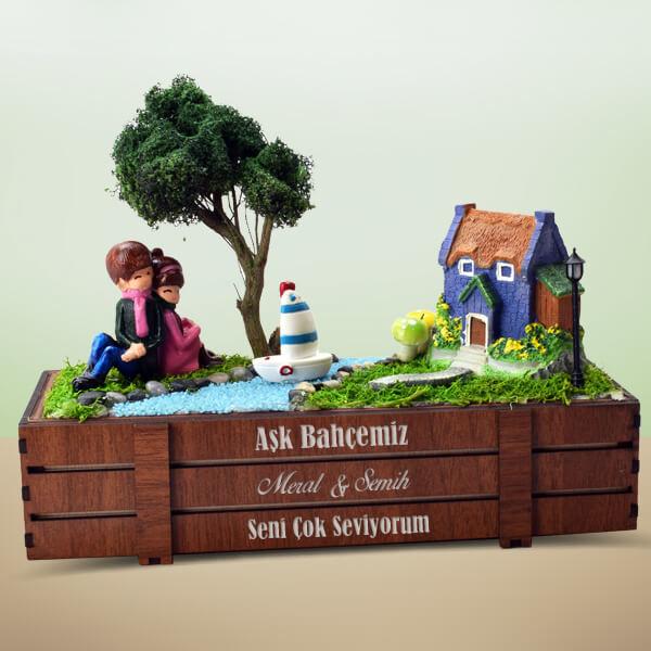 Kişiye Özel Kasalı Aşk Minyatür Bahçesi