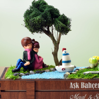 Kişiye Özel Kasalı Aşk Minyatür Bahçesi - Thumbnail
