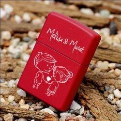 Kişiye Özel Kırmızı Çakmak - Thumbnail